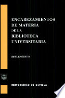 Encabezamientos de materia de la Biblioteca Universitaria de Sevilla