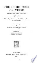 The Home Book of Verse  American and English  1580 1912