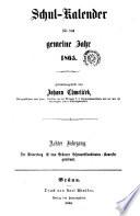 Schul-Calender. Zsgst. von Johann Chmelicek