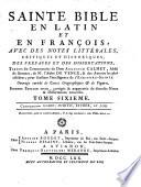 Sainte bible en latin et en fran  ois