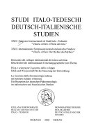23. Simposio internazionale di studi italo-tedeschi