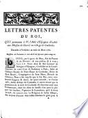 Lettres patentes du Roi  qui permettent    M  l Abb   d Espagnac d   tablir une Maison de Charit   au village de Coulombs