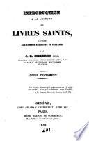 Introduction    la lecture des livres saints     l usage des hommes religieux et   clair  s     Ancien Testament