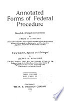 Annotated Forms of Federal Procedure