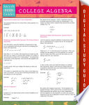 College Algebra  Speedy Study Guides