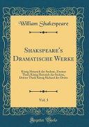 Shakspeare's Dramatische Werke, Vol. 3