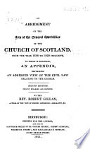 An abridgment of the acts of the General Assemblies of the Church of Scotland