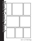 Blank Comic Book Pages-Blank Comic Strips-8 Panels, 8.5