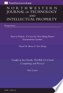 Northwestern Journal Of Technology Intellectual Property Vol 9 No 2