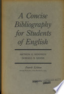 A Concise Bibliography for Students of English It Has Added With The Help
