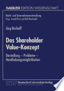 Das Shareholder Value-Konzept