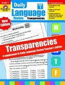 Daily Language Review Transparencies, Grade 1