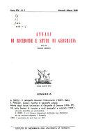 Annali di ricerche e studi di geografia
