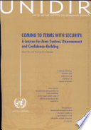 Coming to Terms with Security: A Lexicon for Arms Control, Disarmament and Confidence-Building