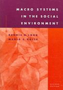 Macro Systems in the Social Environment