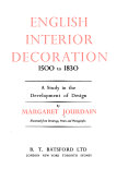 English interior decoration  1500 to 1830