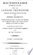 Dictionnaire portatif de la langue fran  aise