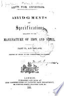 Patents For Inventions A D 1867 1876 1st Ed