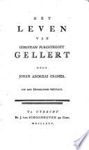 Het leven van Christian Furchtegott Gellert