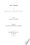 The Works of William Shakespeare  The two gentlemen of Verona