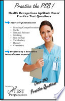 Practice the PSB  Health Occupations Aptitude Exam Practice Test Questions