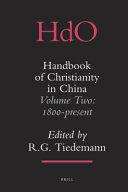 Handbook of Christianity in China