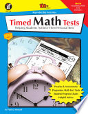 Timed Math Tests  Multiplication and Division  Grades 2   5