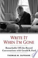 Write it when I m Gone
