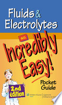 Fluids and Electrolytes  An Incredibly Easy  Pocket Guide