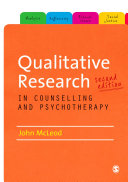 Qualitative Research in Counselling and Psychotherapy