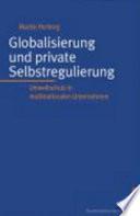 Globalisierung und private Selbstregulierung