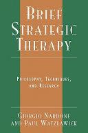 Brief Strategic Therapy