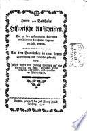 Historische Aufschriften, die zu den gesammelten Bildnissen verschiedener berühmter Luzerner verfasset worden
