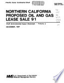 Northern California Proposed Oil And Gas Lease Sale 91 : ...