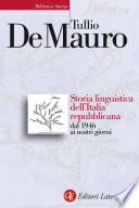 Storia linguistica dell Italia repubblicana