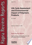 Life Cycle Assessment and Environmental Impact of Polymeric Products