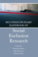Multidisciplinary Handbook of Social Exclusion Research Book PDF