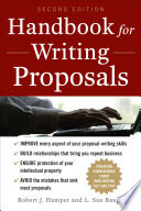 Handbook For Writing Proposals  Second Edition