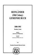 Reinl  nder  Old Colony  Gemeinde Buch