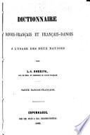 Dansk fransk og fransk dansk haand ordbog