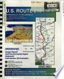 Us 219 Between Springville To Salamanca Improvements From Ny 39 To Ny 17