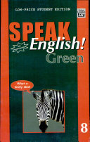 Speak English  Green 8 With Audiocassette