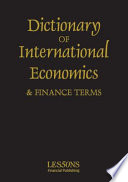 Dictionary Of International Economics Terms