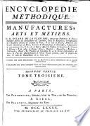 Encyclopedie methodique  ou par ordre de mati  res  Manufactures  arts et metiers