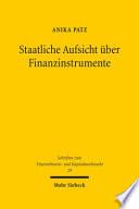 Staatliche Aufsicht über Finanzinstrumente
