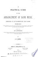 A Practical Guide to the Arrangement of Band Music