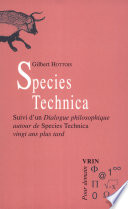 illustration du livre Species technica