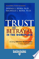 Trust   Betrayal in the Workplace