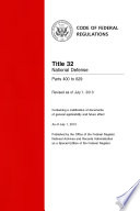 Title 32 National Defense Parts 400 To 629 Revised As Of July 1 2013
