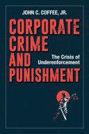 Corporate Crime and Punishment Book